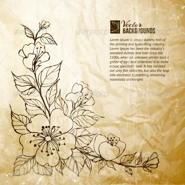 GraphicRiver Flower Background 4412270