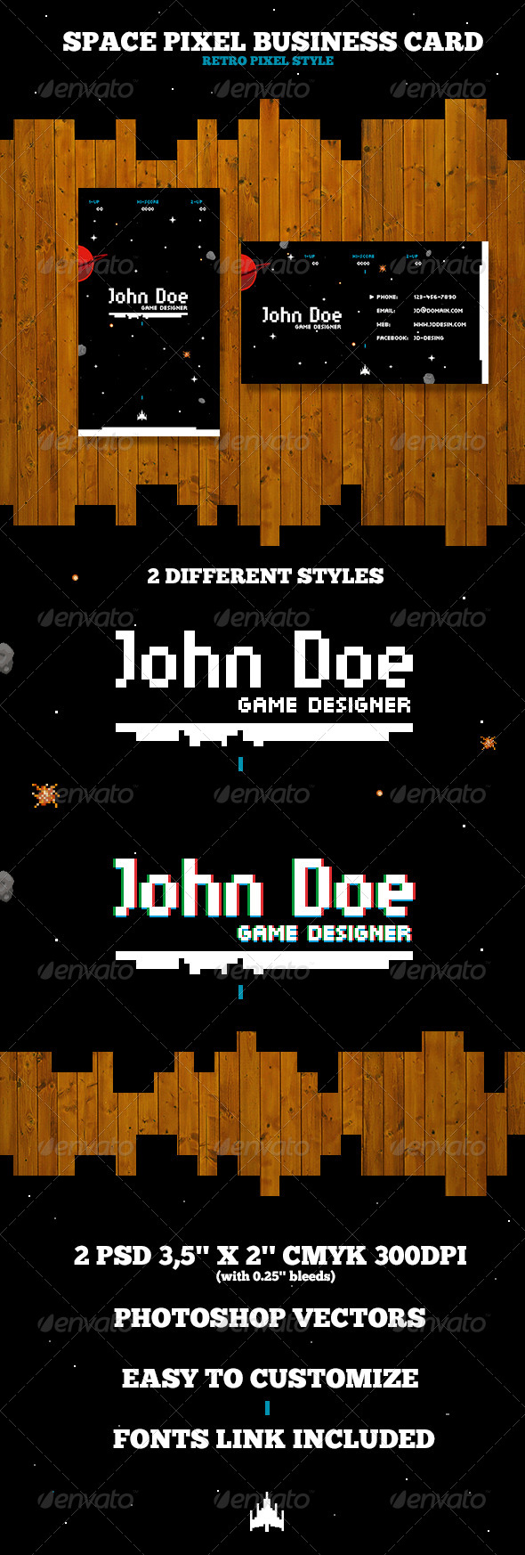GraphicRiver Pixel Business Card 4303090