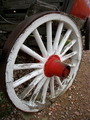Old Painted Wagon Wheel - PhotoDune Item for Sale