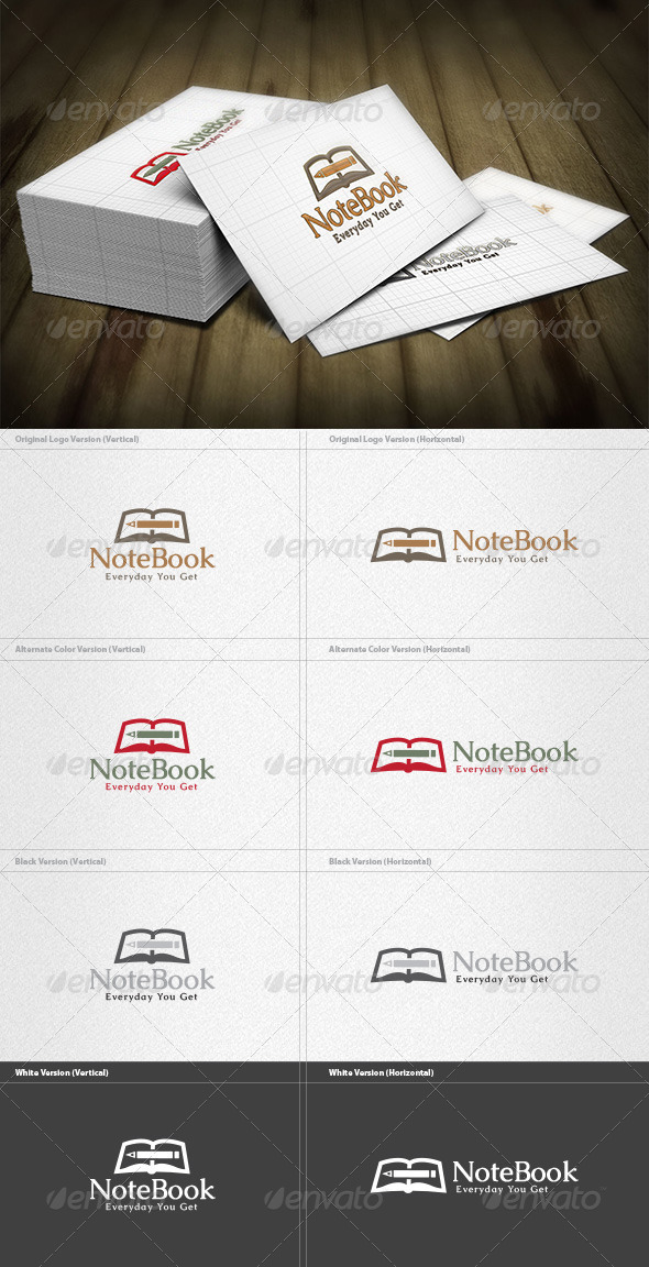 GraphicRiver Note Book Logo 4413747
