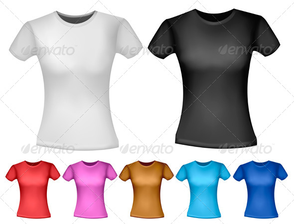 GraphicRiver Woman T-Shirt Design Template 4413780