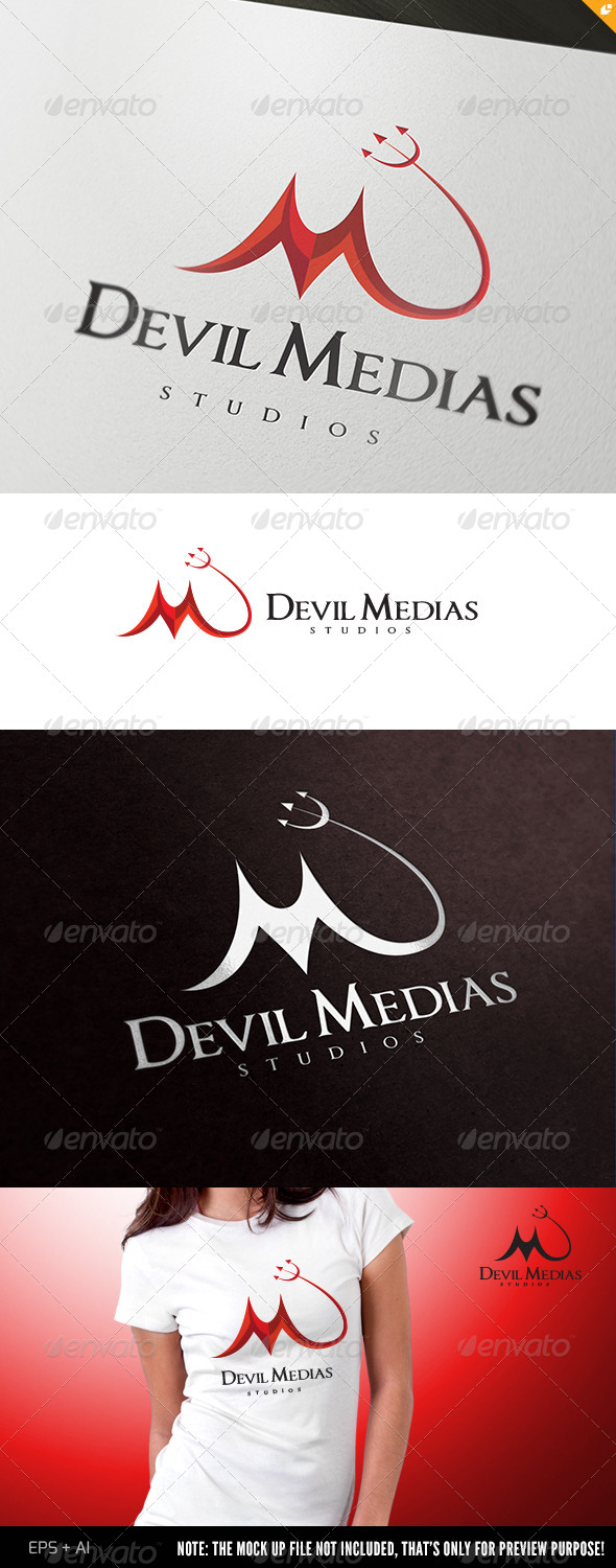 GraphicRiver Devil Medias Logo 4413977