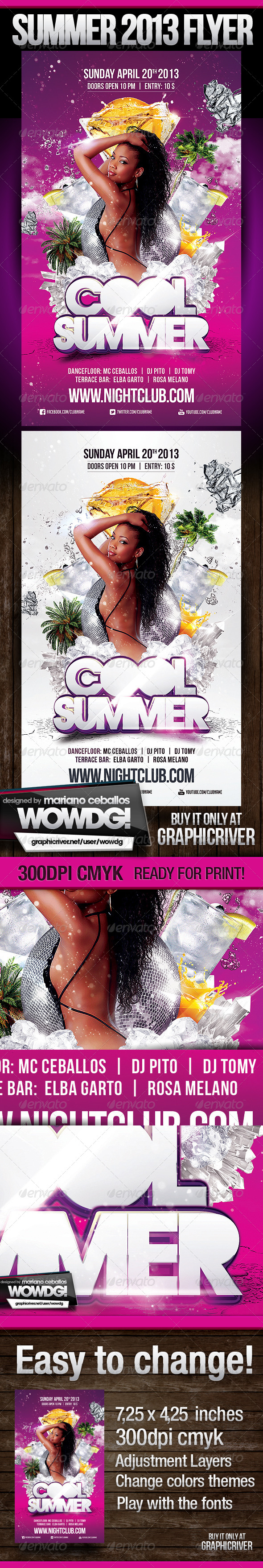 Cool Summer - Flyers Print Templates