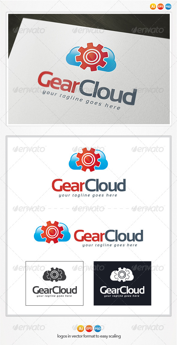 Gear Cloud Logo - Objects Logo Templates