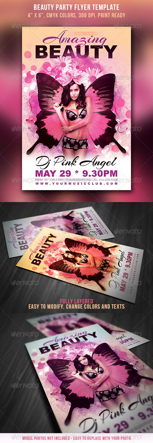 Beauty Party Flyer - Clubs & Parties Events
