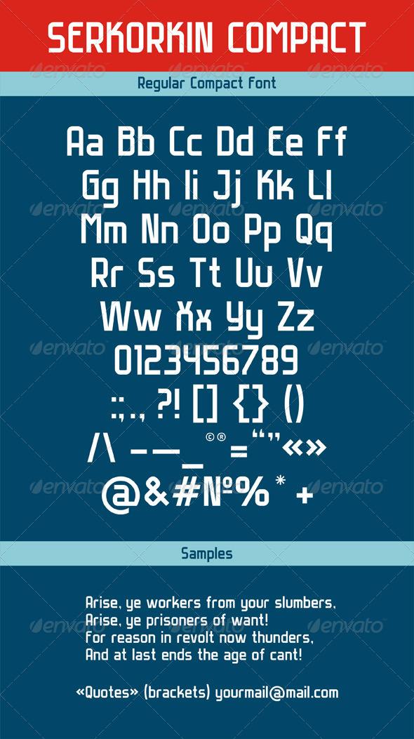 GraphicRiver Serkorkin Compact Regular Font 4415373