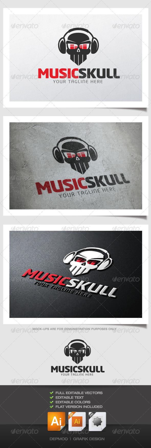 GraphicRiver Music Skull Logo 4341295