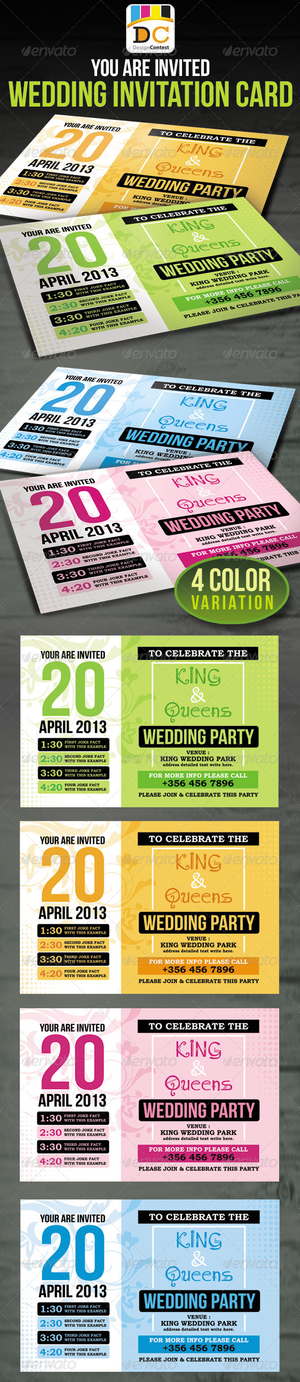GraphicRiver Wedding Party Invitation Card 4416139