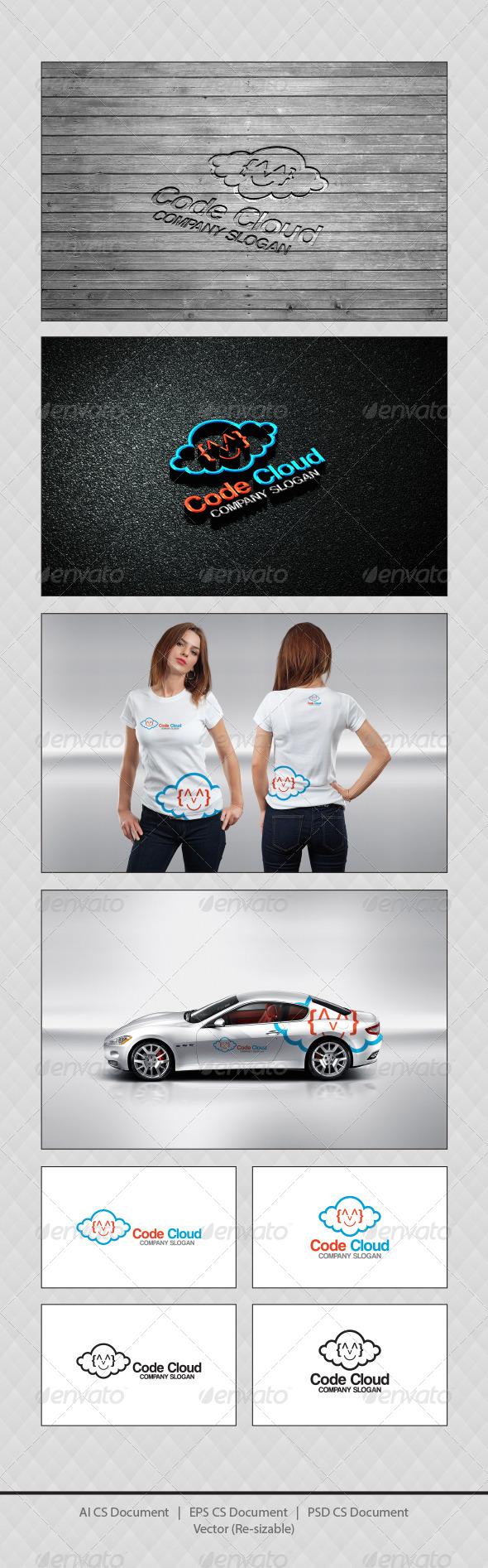 GraphicRiver Code Cloud Logo Templates 4416343