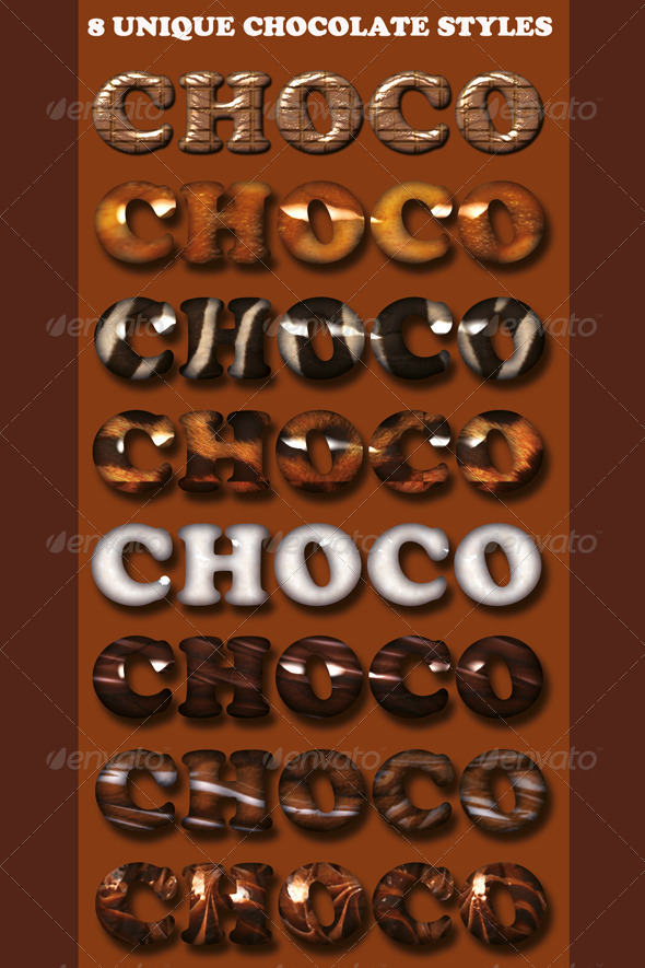 GraphicRiver 8 Chocolate Textstyles 4416476