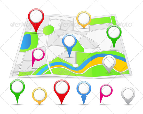 GraphicRiver Map Pins 4416791