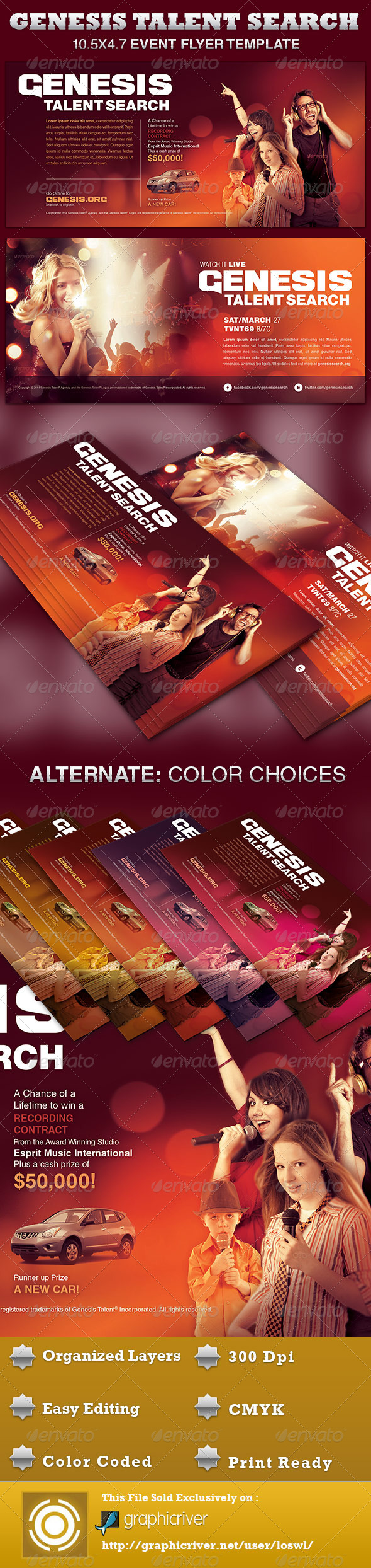 GraphicRiver Genesis Talent Search Event Flyer Template 4311359