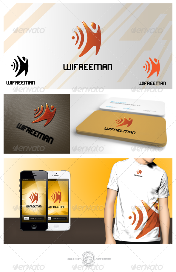 Wifreeman logo - Humans Logo Templates