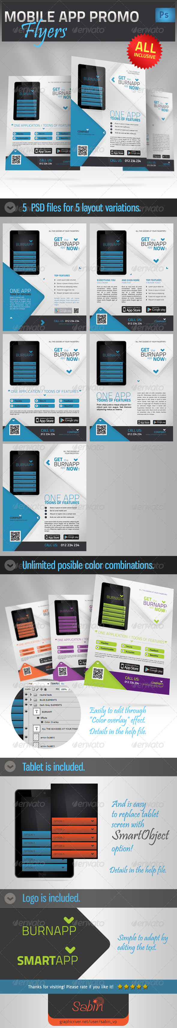 GraphicRiver Mobile App Promotion Flyer 4418804