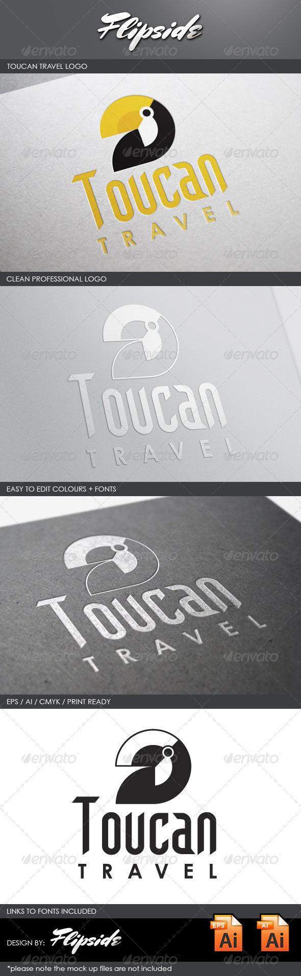 GraphicRiver Toucan Travel Logo 4328030