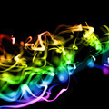 Bright Colorful Wavy Smooth Neon Background In Perspective - PhotoDune Item for Sale