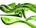 3D Bright Green Glass Waves - PhotoDune Item for Sale
