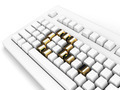 Keyboard With Gold Question-Mark Concept - PhotoDune Item for Sale