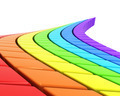 Abstract Rainbow-Colored Road In Perspective - PhotoDune Item for Sale