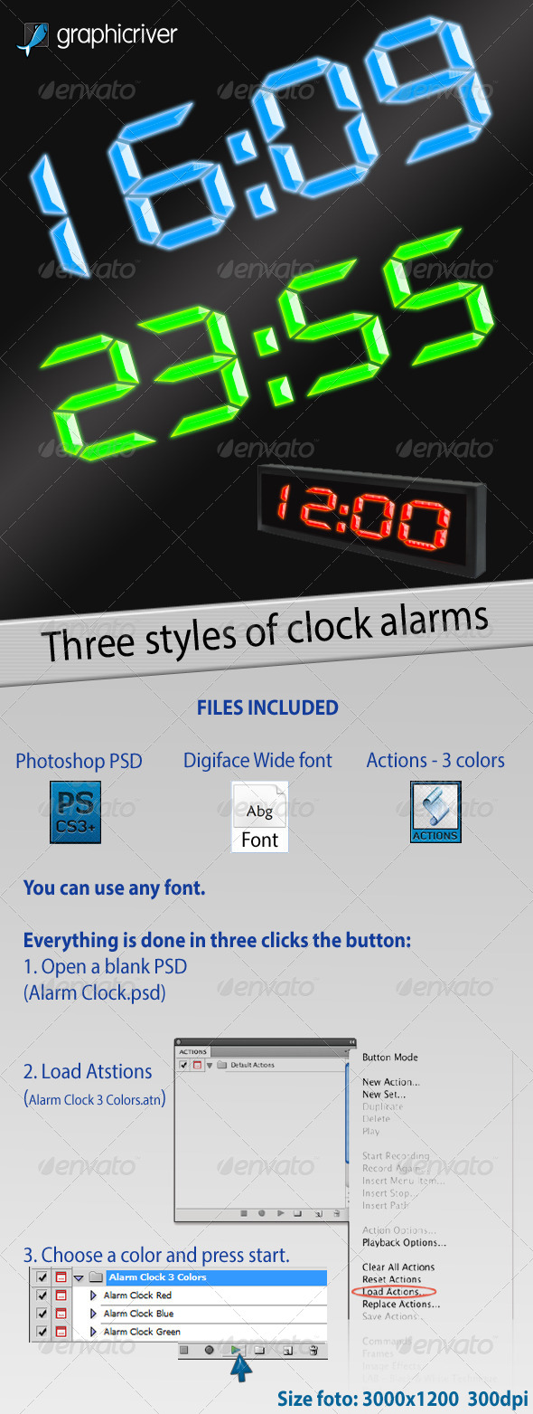 GraphicRiver Alarm Clock 3 Colors 4384145
