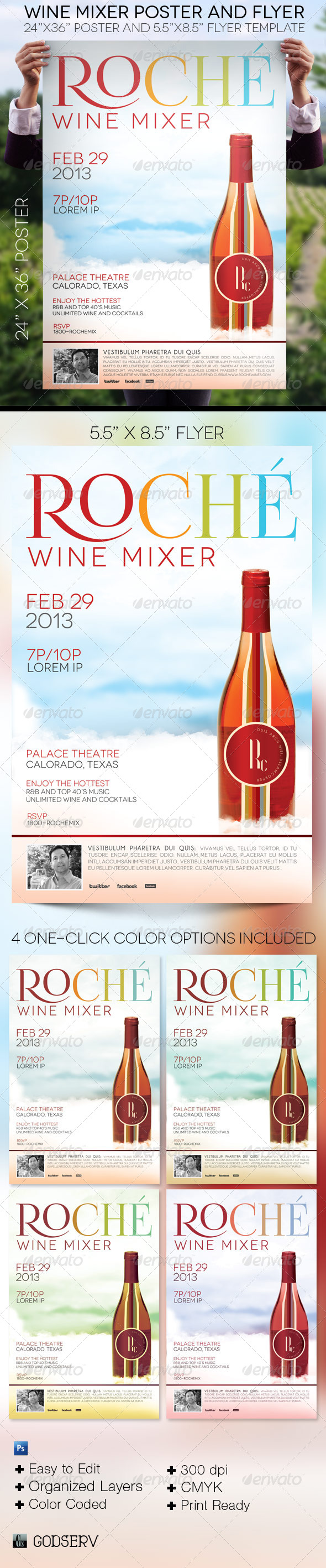 GraphicRiver Wine Mixer Poster and Flyer Template 4312842