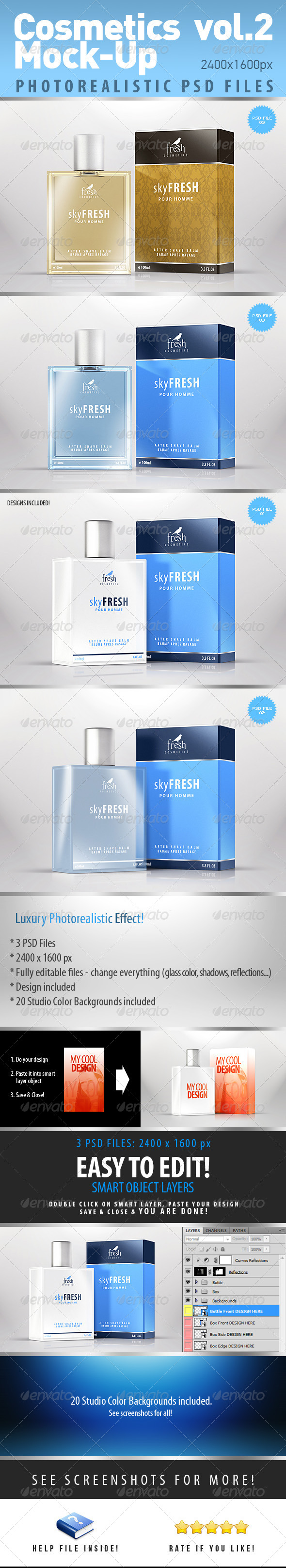GraphicRiver Cosmetics Photorealistic Mock-Up vol.2 4419514
