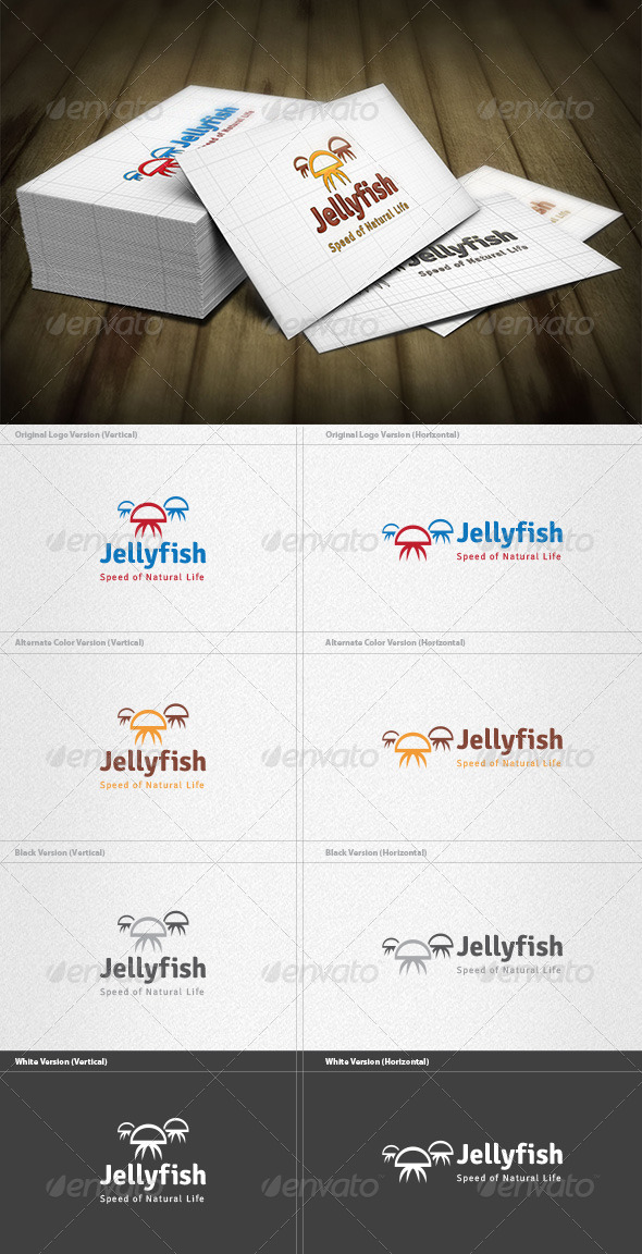 GraphicRiver Jellyfish Logo 4420815