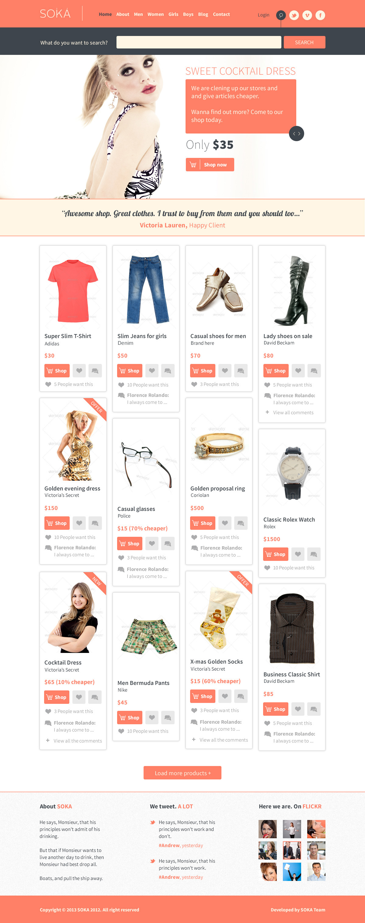SOKA - PSD Templates Fashion Online Shop