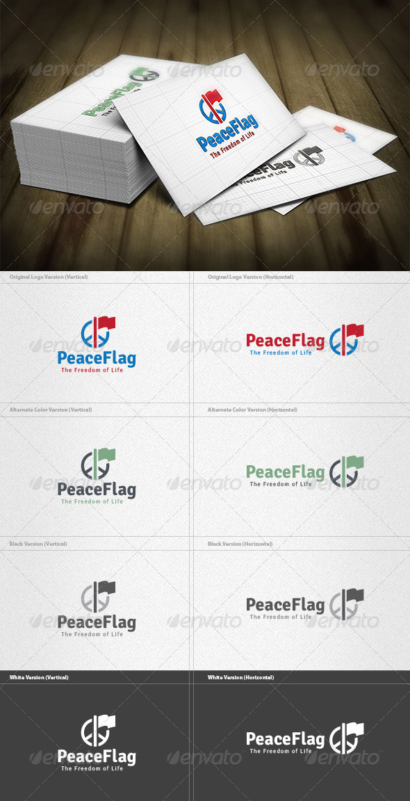 GraphicRiver Peace Flag Logo 4420906