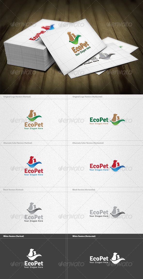 GraphicRiver Eco Pet Logo 4421038