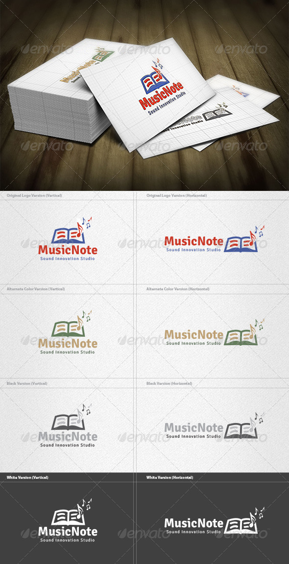 GraphicRiver Music Note Logo 4421074