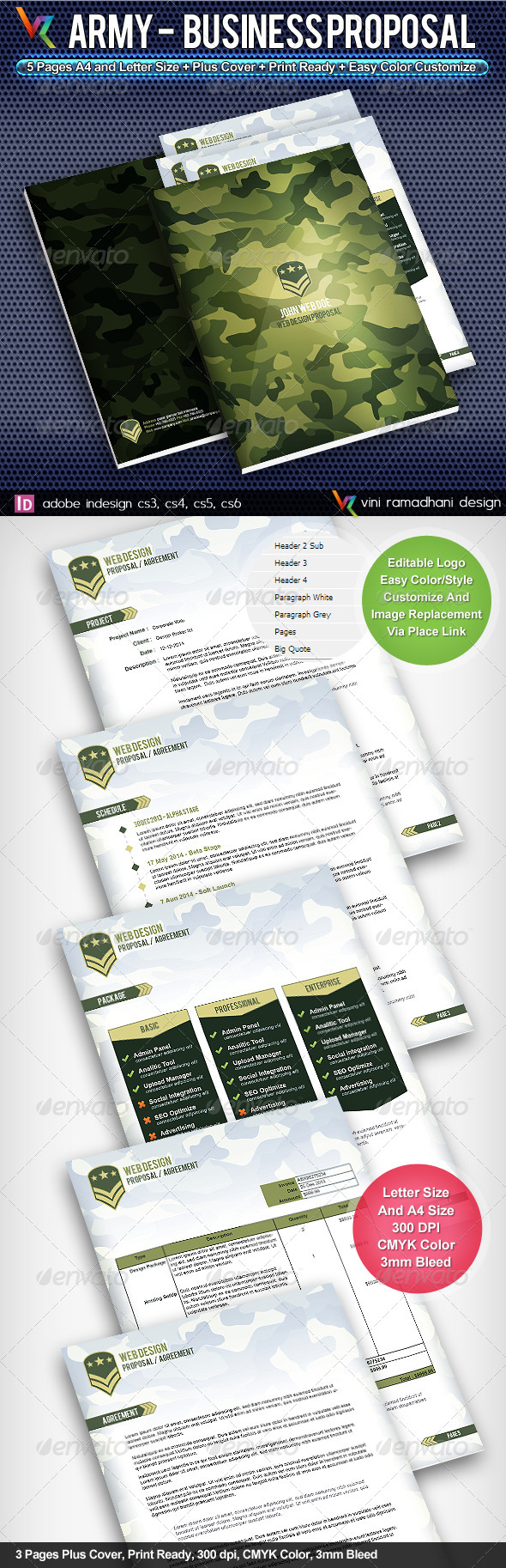 GraphicRiver Army Business Proposal 4421113