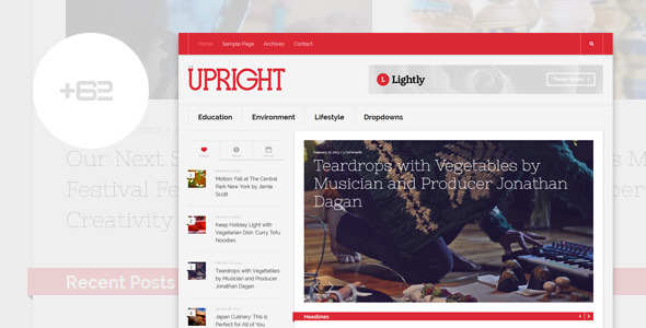 Upright - Magazine WordPress Theme