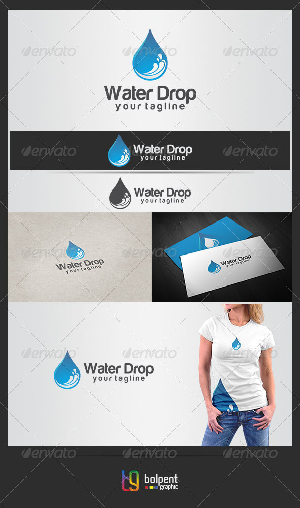 GraphicRiver Water Drop Logo Template 4422082