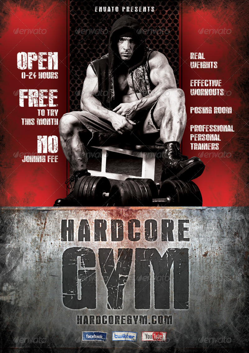 Hardcore Gym Flyer