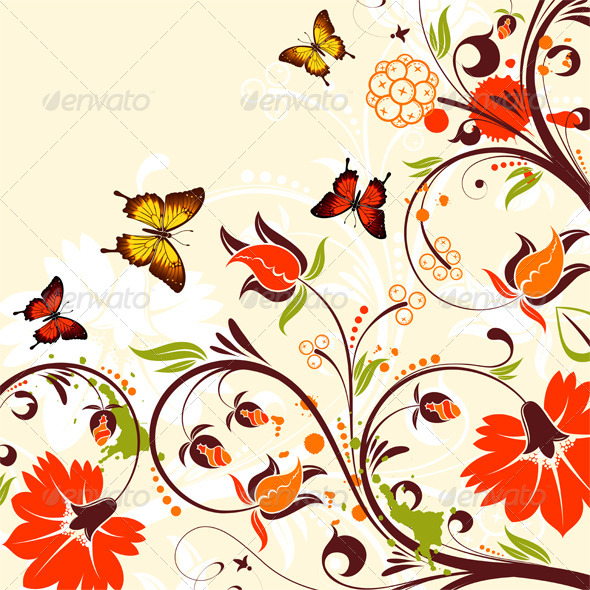 GraphicRiver Flower Frame 4423226