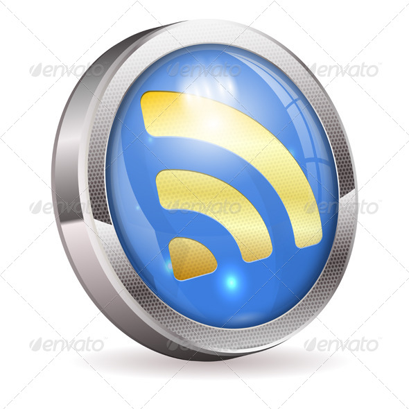 GraphicRiver RSS Feed News Button 4423331