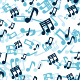 Seamless Musical Notes Pattern In 9 Colors - GraphicRiver Item for Sale