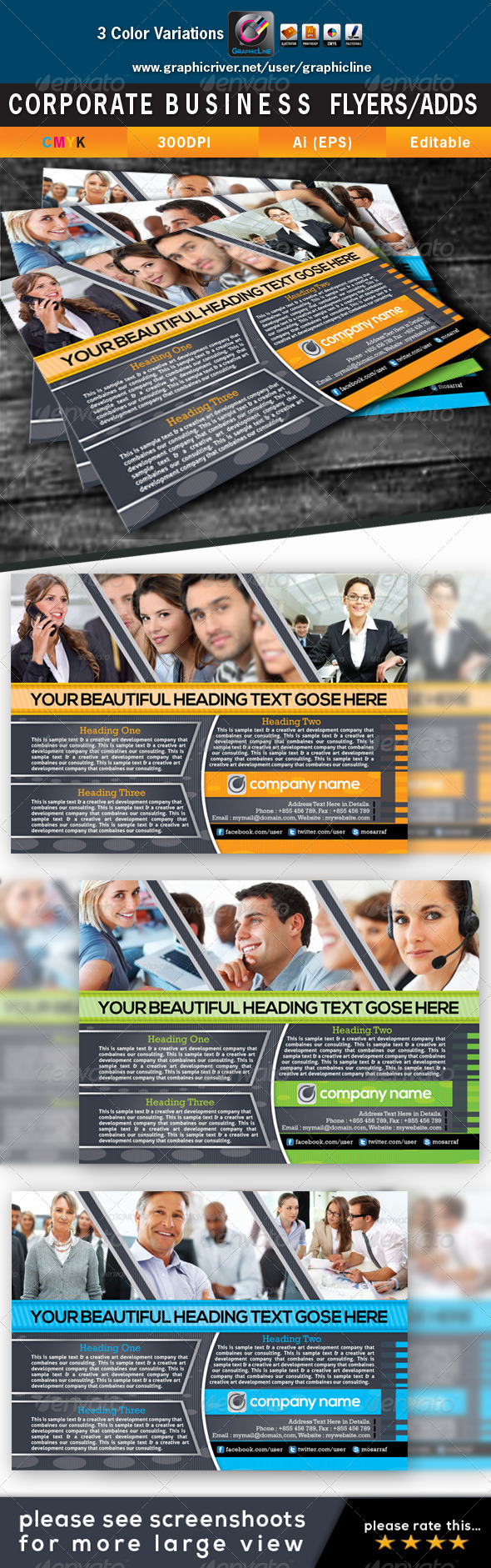 GraphicRiver Corporate Business Flyers Adds 4423663
