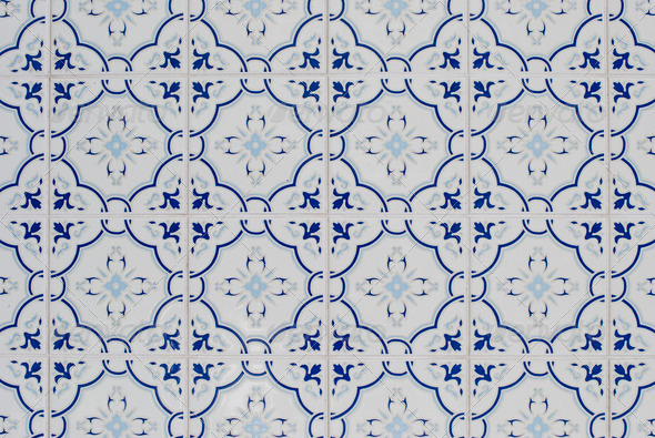 Portuguese glazed tiles 116 - Stock Photo - Images
