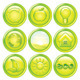 Ecology Icon Set. Set of Green Eco Buttons. Vector - GraphicRiver Item for Sale