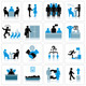 Business Management and Human Resources Icon Set - GraphicRiver Item for Sale