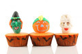 Spooks cup cakes on white background - PhotoDune Item for Sale