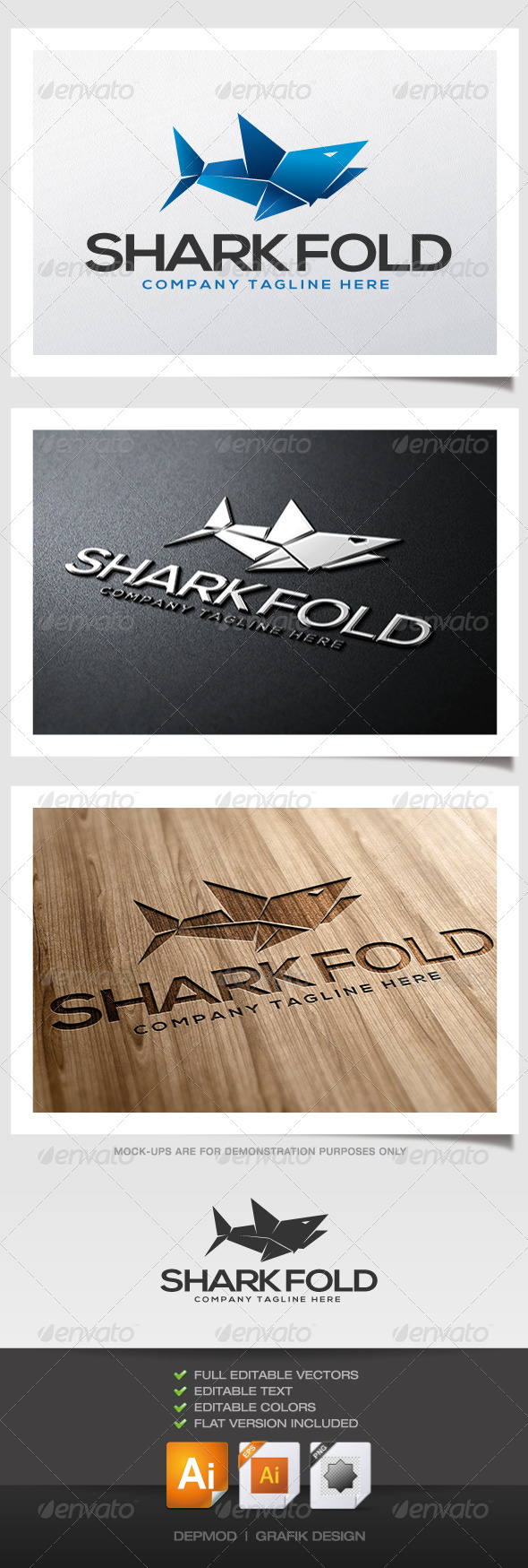 GraphicRiver Shark Fold Logo 4425989