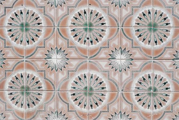 Portuguese glazed tiles 069 - Stock Photo - Images