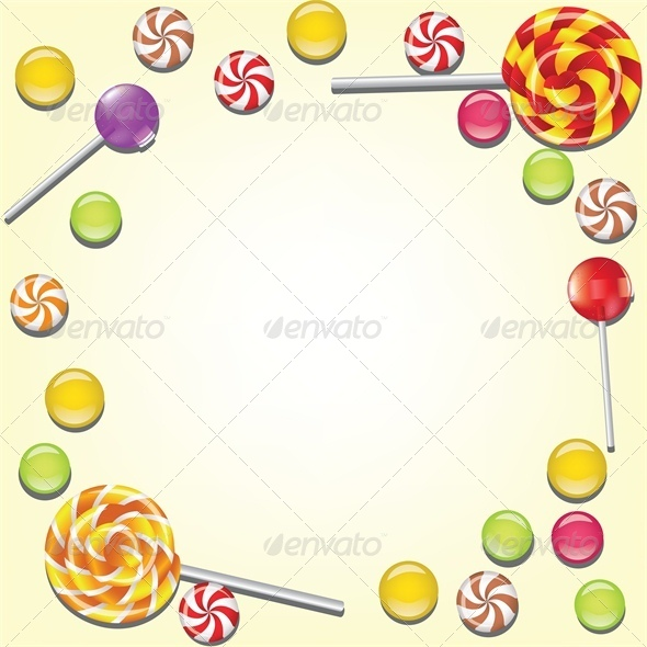 GraphicRiver Background with Candies Frame 4426553