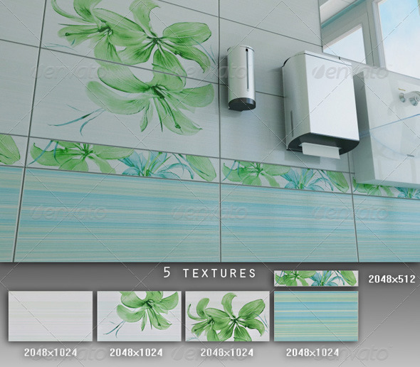 3DOcean Professional Ceramic Tile Collection C006 428278