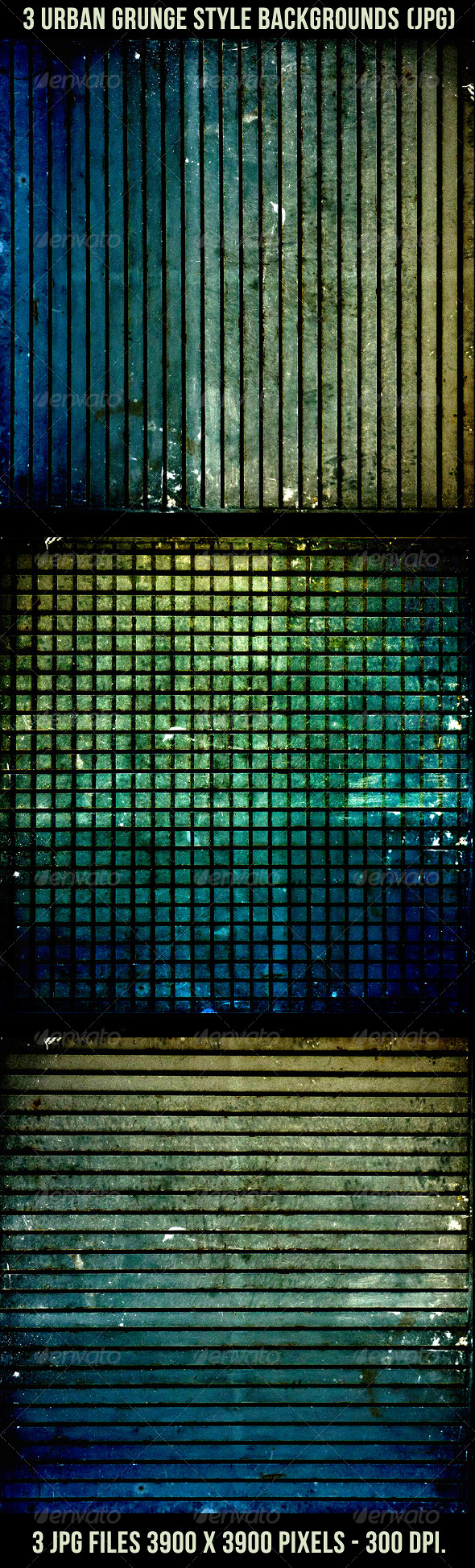 GraphicRiver 3 Urban Grunge Style Backgrounds 4426791