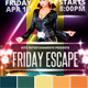 Friday Escape Party Flyer - GraphicRiver Item for Sale