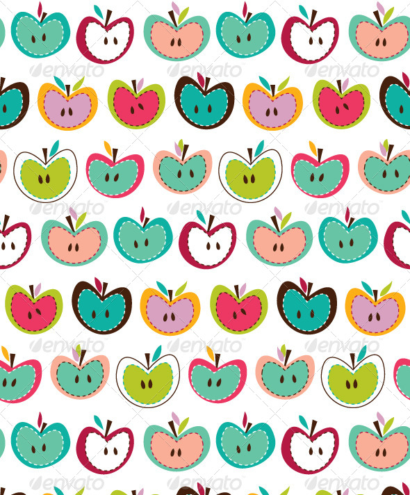 GraphicRiver Seamless Apple Pattern 4427100